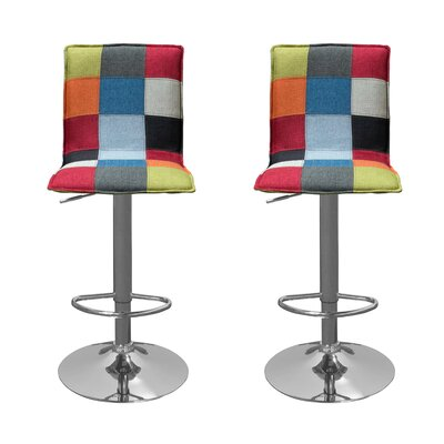 BestMasterFurniture Adjustable Height Swivel Bar Stool (Set of 2)