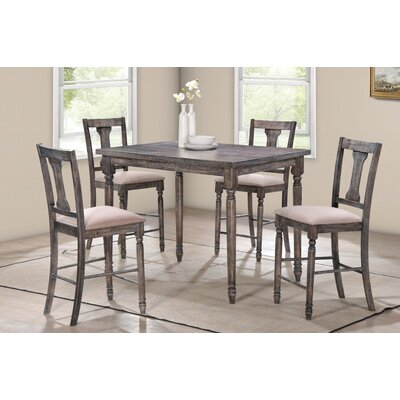 BestMasterFurniture Demi 5 Piece Counter Height Pub Table Set