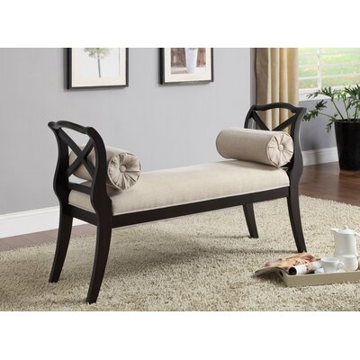 !nspire Upholstered Bench With Pillows