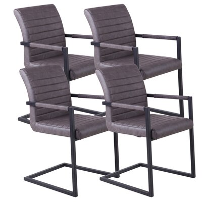 !nspire Faux Leather Accent Arm Chair (Set of 4)