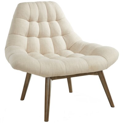 !nspire Oversize Waffle Tufted Fabric Accent Chair