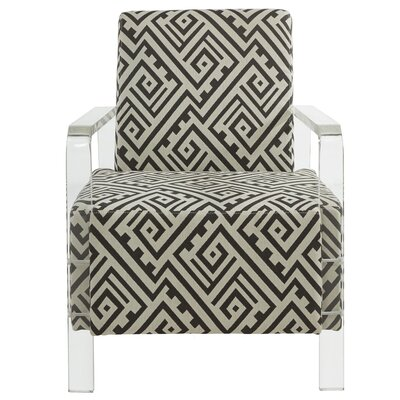 !nspire Fabric Accent Chair with Acrylic Arms