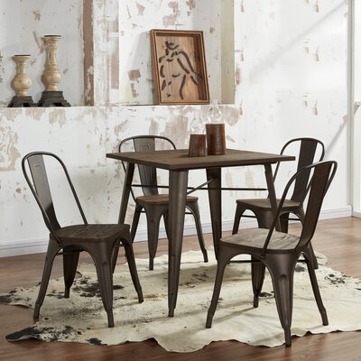 !nspire 5 Piece Industrial Dining Set