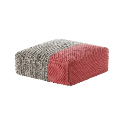 GAN RUGS Mangas Space Square Plait Ottoman