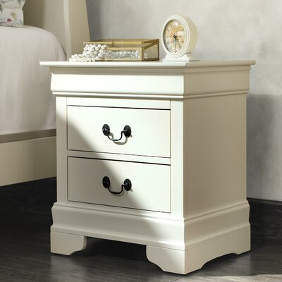 Lark Manor Corbeil 2 Drawer Nightstand