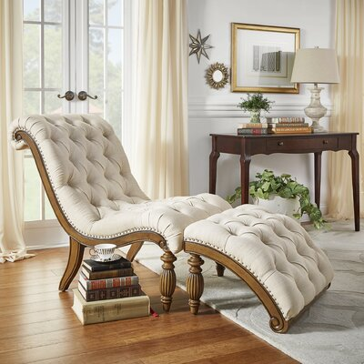 Lark Manor Celya Chaise Lounge and Ottoman Set