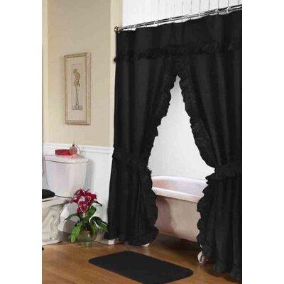 Fleur De Lis Living Biermann Double Swag Shower Curtain Reviews