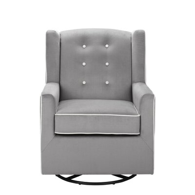 Baby Relax Emmett Button Tufted Swivel Glider
