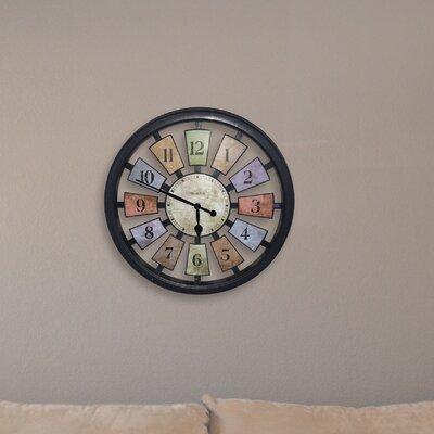 Westclox 18 Quot Round Panel Wall Clock Amp Reviews Wayfair