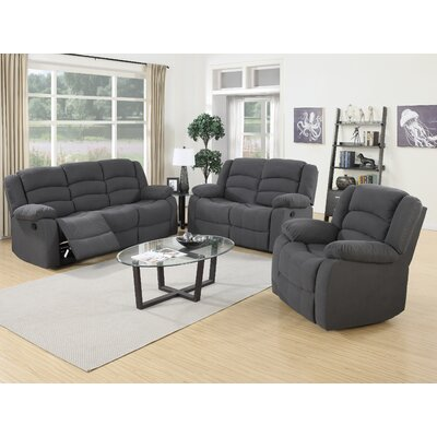 Container 3 Piece Recliner Sofa Set