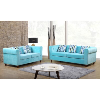 Container Obscure 2 Pieces Sofa and Loveseat Set