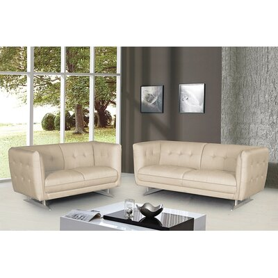 Container 2 Pieces Sofa and Loveseat Set