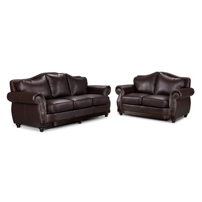 Container Scrolled Sofa and Loveseat Set