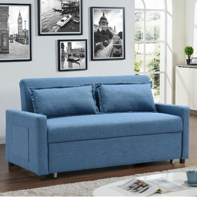 Container Fabric Modern Convertible Sleeper Sofa