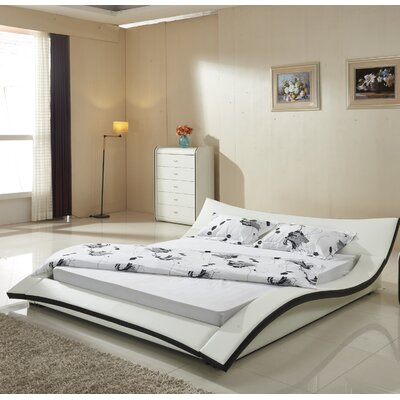 Container California King Upholstered Platform Bed