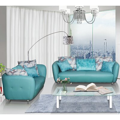 Container 2 Piece Leather Living Room Set