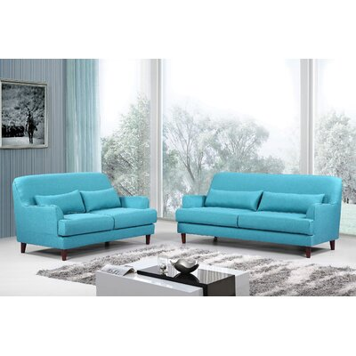 Container Modern 2 Piece Sofa and Loveseat Set