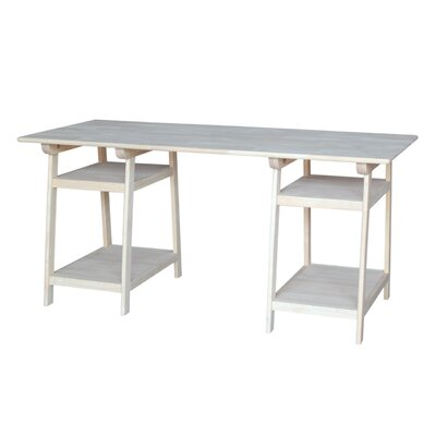 International Concepts Solid Wood Trestle Desk