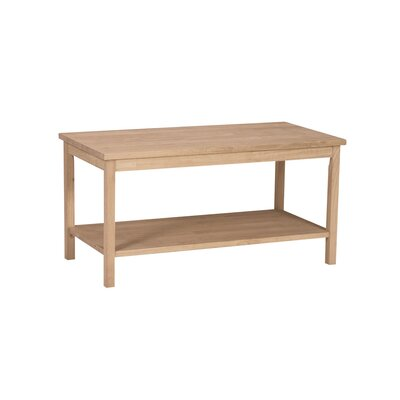 Unfinished Wood Portman Coffee Table