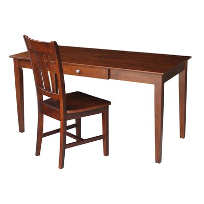 International Concepts Writing Desk with Chair in Espresso
