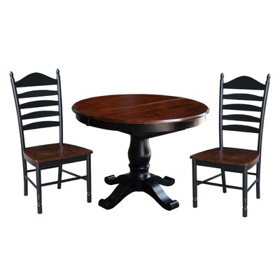 August Grove Leroy 3 Piece Dining Set