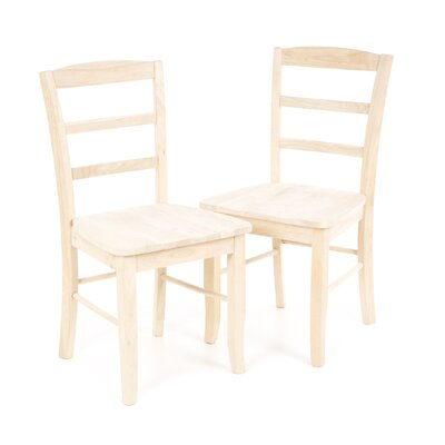 August Grove Brianne Ladderback Side Chair (Set of 2)