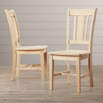August Grove Malcolm Slat Back Side Chair (Set o..