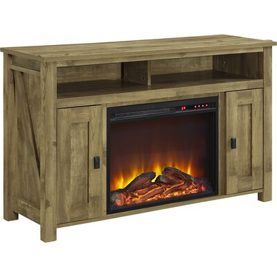 August Grove Gilby TV Stand with Electric Firepl..