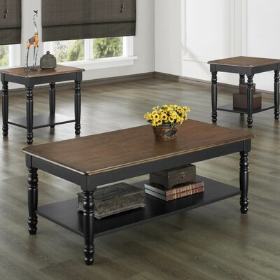 August Grove Frona 3 Piece Coffee Table Set
