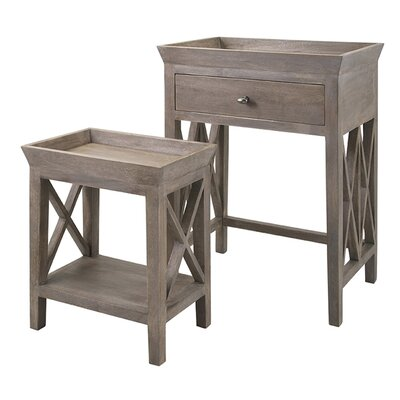 August Grove 2 Piece Nesting Tables