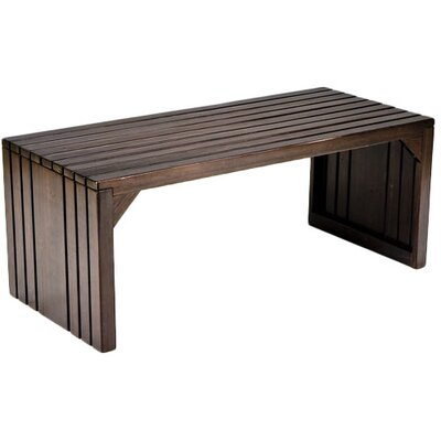 August Grove Exie Slat Bench