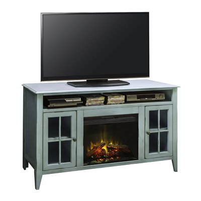 August Grove Bess TV Stand with Electric Firepl..