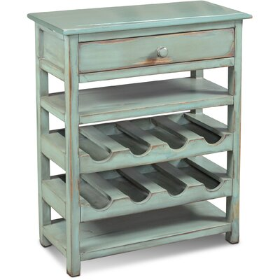 August Grove Ashleigh 8 Bottle Floor Wine Rack