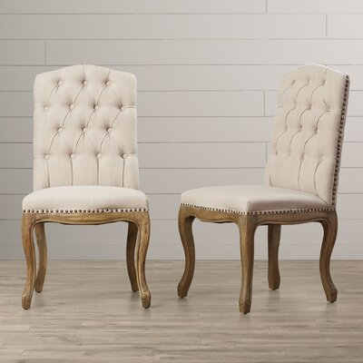 One Allium Way Chatsworth Tufted Parsons Chair (Set of 2)