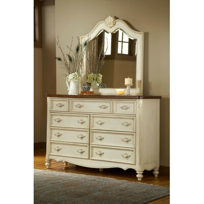 One Allium Way Brecon 9 Drawer Dresser with Mirror