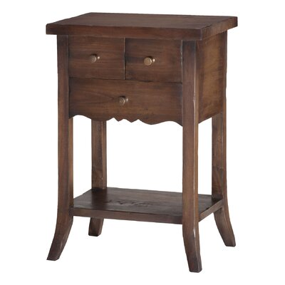 One Allium Way Dany 3 Drawer End Table