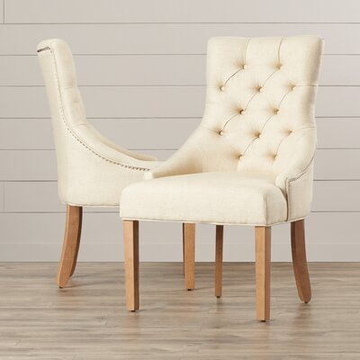 House of Hampton Jodie Tufted Nailhead Parsons Chair (Set of 2)