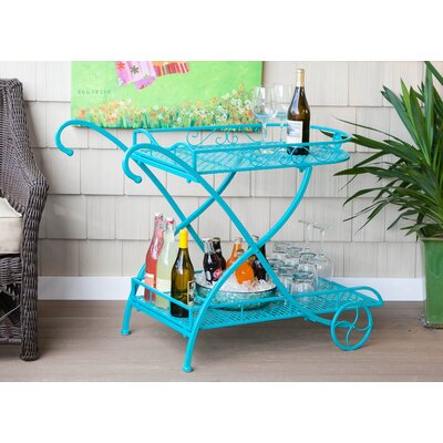 One Allium Way Forman Coat Indoor / Outdoor Metal Serving Cart