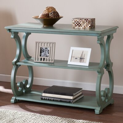 One Allium Way Lariviere Scroll Console Table