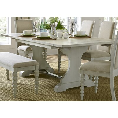 Beachcrest Home Stamford Trestle Dining Table