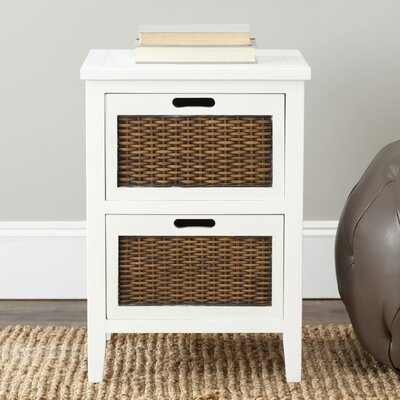 Beachcrest Home St. Leo 2 Drawer Nightstand