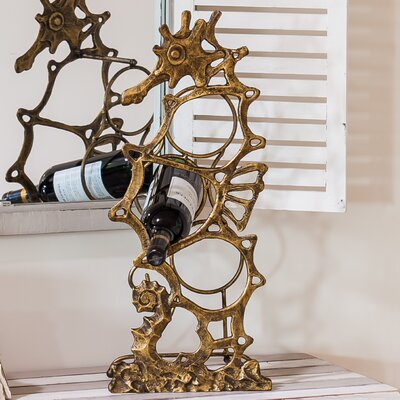 Beachcrest Home Ismay 3 Bottle Tabletop Wine Rack
