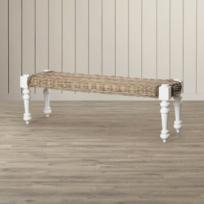 Beachcrest Home Parkland Rattan Bench