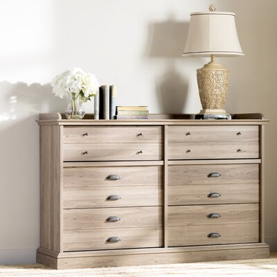 Beachcrest Home Bowerbank Chester 6 Drawer Dresser