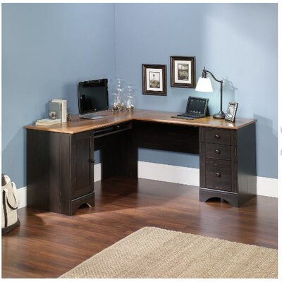 Beachcrest Home Pinellas Corner Computer Desk with Keyboard Tray