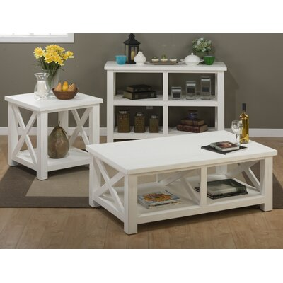 Beachcrest Home Sanderling Coffee Table Set
