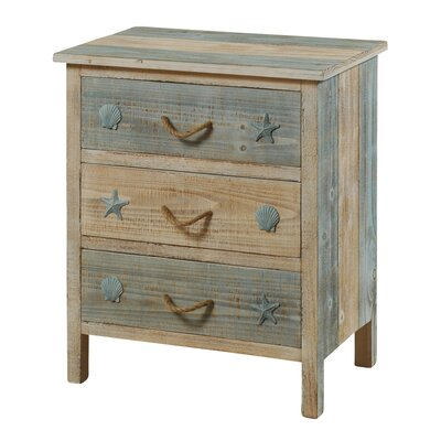 Beachcrest Home Bethaven 3 Drawer Nightstand Image