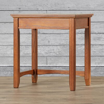 Loon Peak San Luis Corner Table in Medium Brown Oak