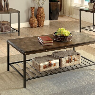 Loon Peak Oliver 3 Piece Coffee Table Set