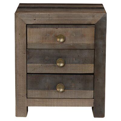 Loon Peak Fort Morgan 3 Drawer Nightstand